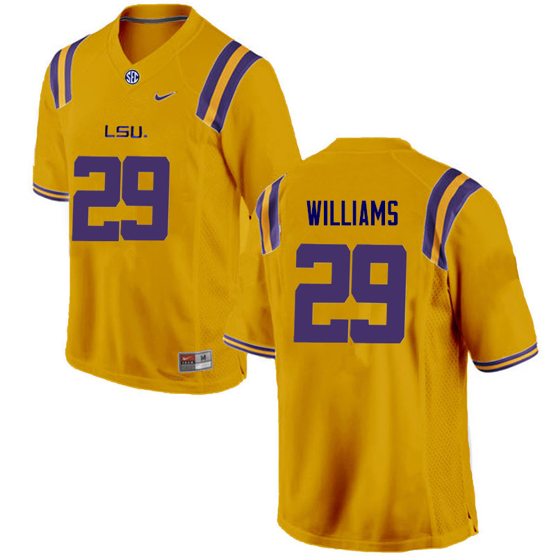 Men LSU Tigers #29 Andraez Williams College Football Jerseys Game-Gold