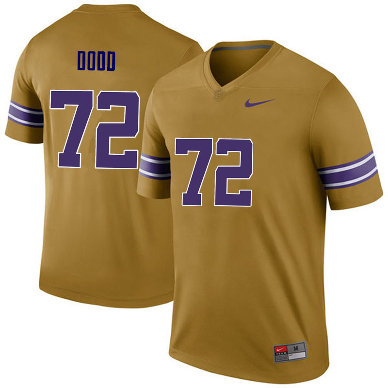 Men LSU Tigers #72 Andy Dodd College Football Jerseys Game-Legend