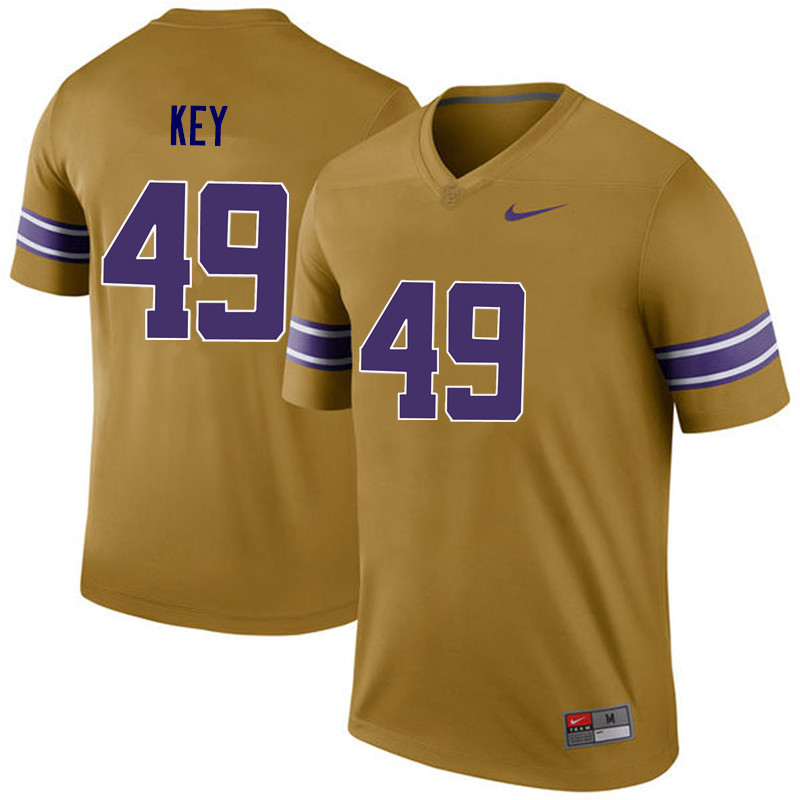 Men LSU Tigers #49 Arden Key College Football Jerseys Game-Legend